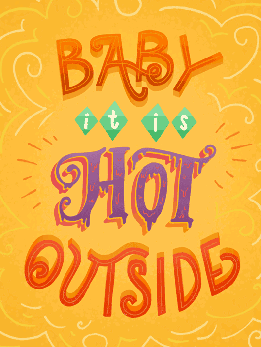 It's Hot Outside Hand-letterring Thumbnail