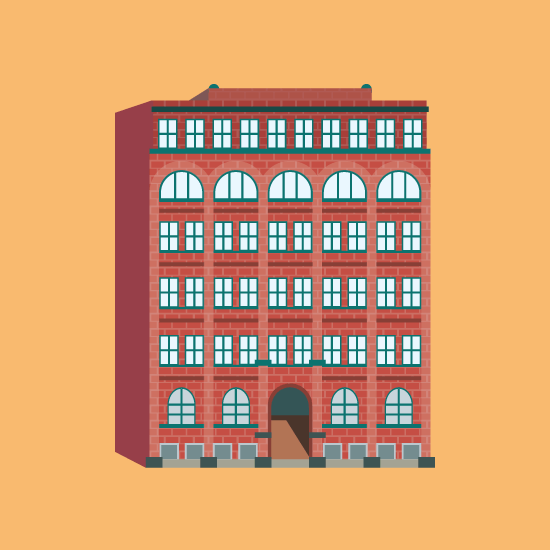 Detroit Globe Building Illustration
