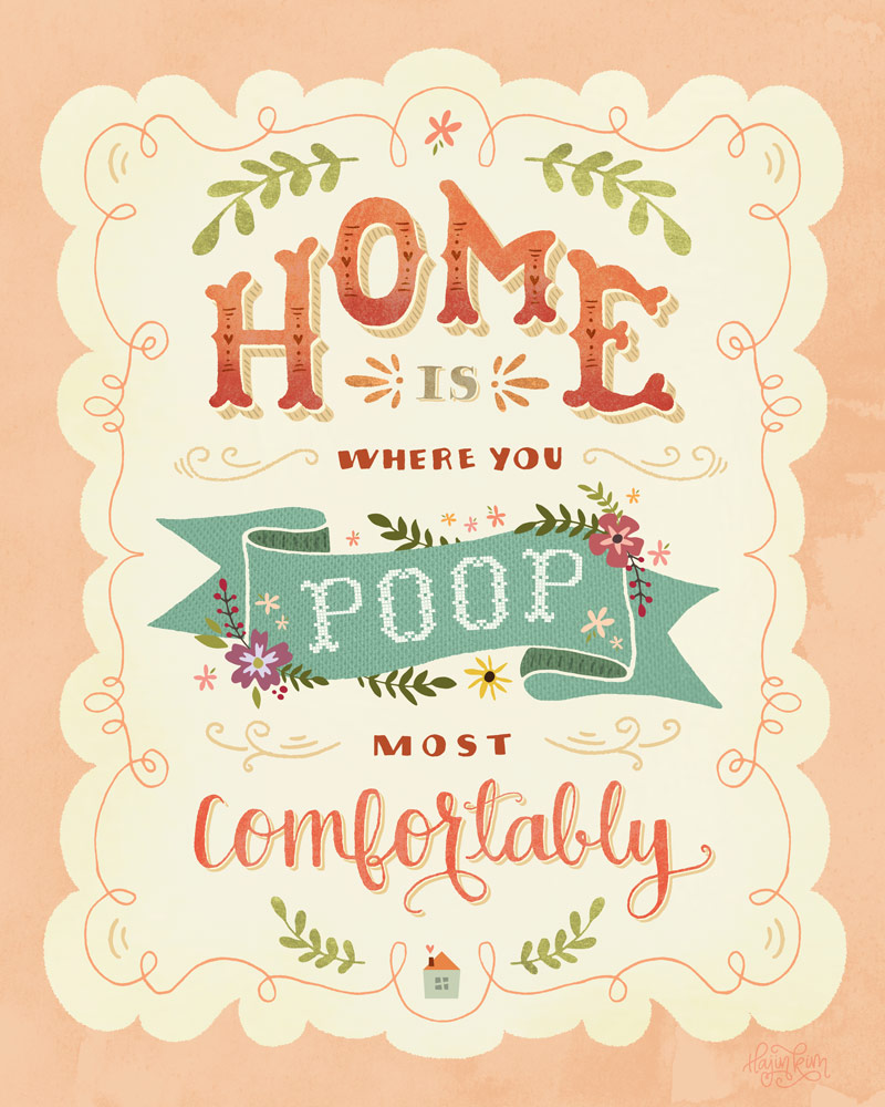 Home Is... Hand-lettered Poster