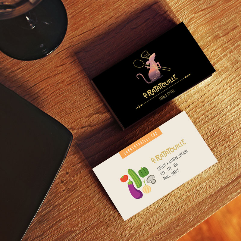 Pixar Ratatouille Business Cards