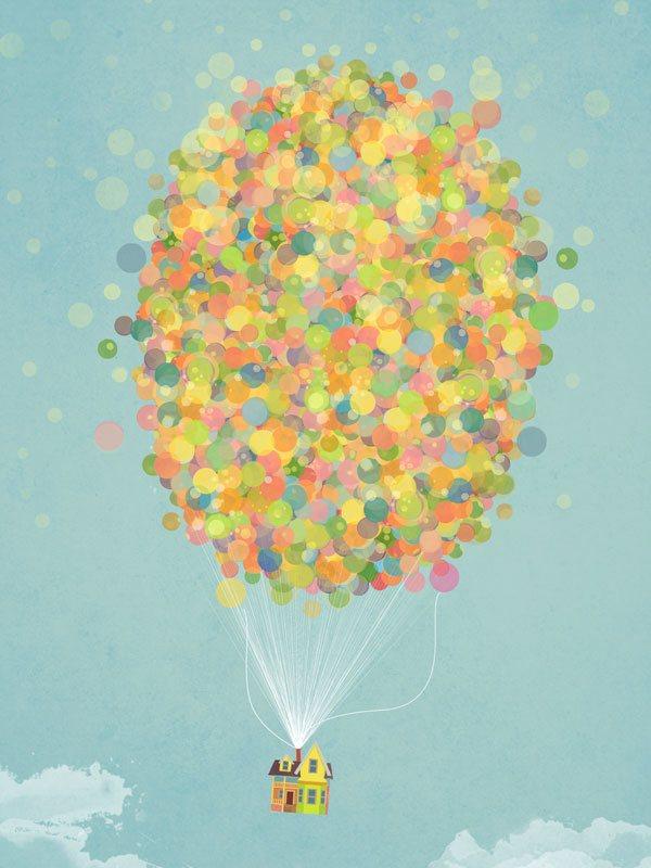 Pixar UP Balloons Thumbnail
