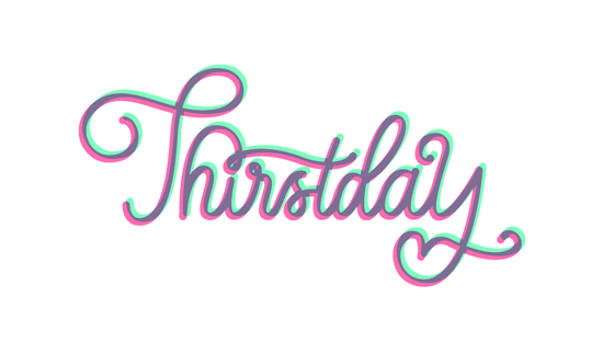 Thirstday Script Vector Lettering