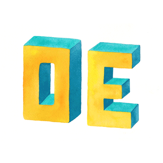 Shit Nicas Say: OE Watercolor 3D Lettering by Hajin Kim Thumbnail Letterer Illustrator