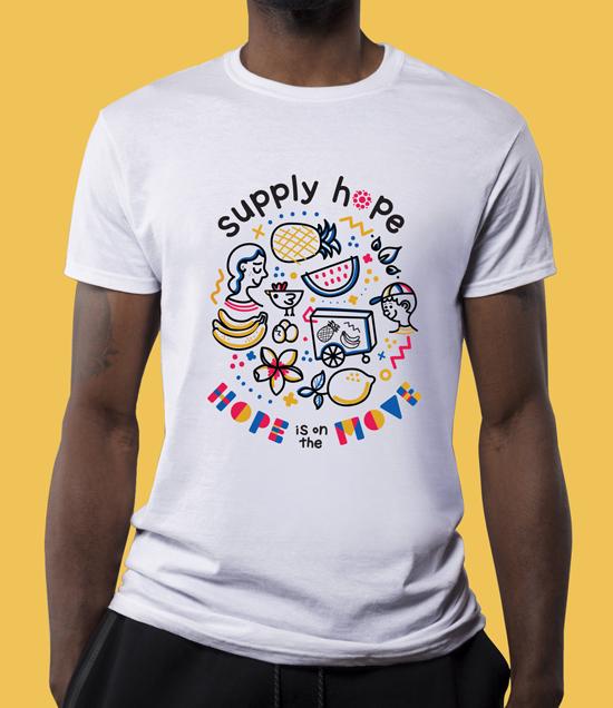 Supply Hope Non-Profit Tshirt Design Thumbnail